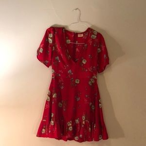 Gorgeous red flower dress